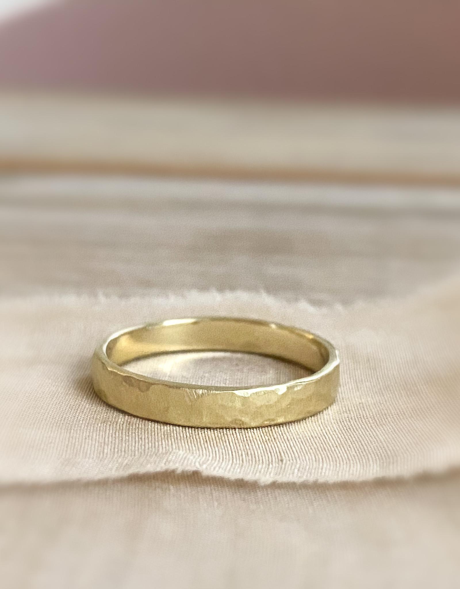 Atelier Maison Mannenring Hamret 3mm -  geel en rosé goud