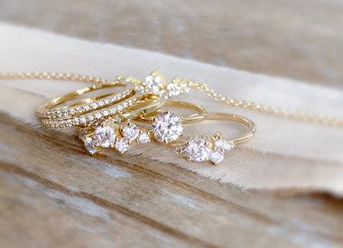 Juwelen met enkel diamanten