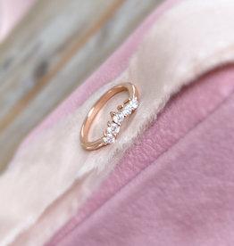 Atelier Maison Maat 48 - No.18 - The Fine Bow -14 karaat  rosé goud - diamant