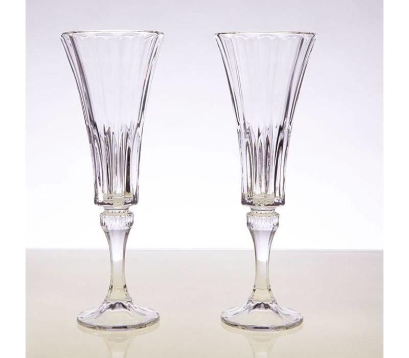 Wellington Champagne Flutes, set of 2