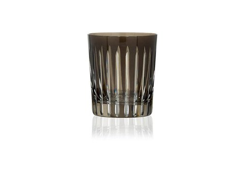 Gurasu Crystal  Shining Star Tumbler in Smoke, set of 2
