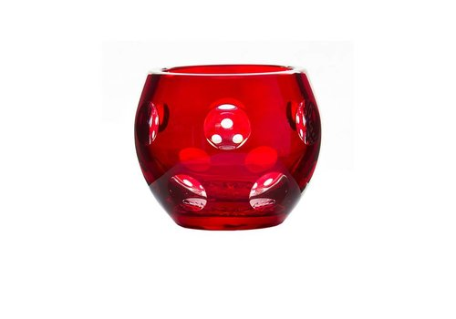 Gurasu Crystal  Ruby Crystal Votive