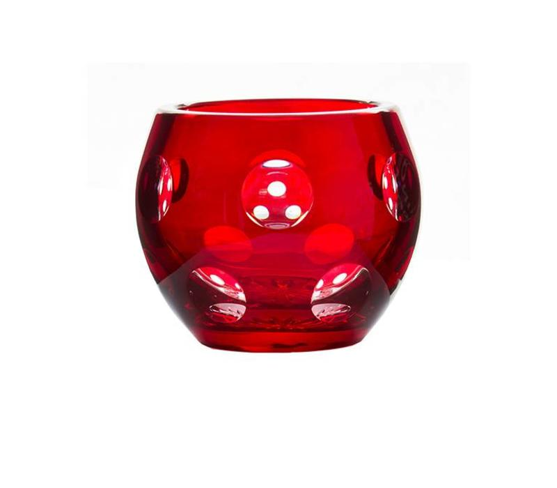 Ruby Crystal Votive