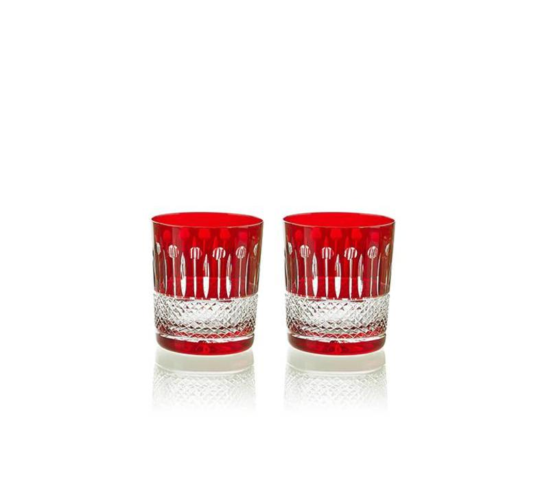 Rainbow Ruby Double Old Fashioned, set of 2