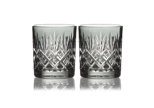 Gurasu Crystal  Pineapple Smoke Double Old Fashioned, set of 2