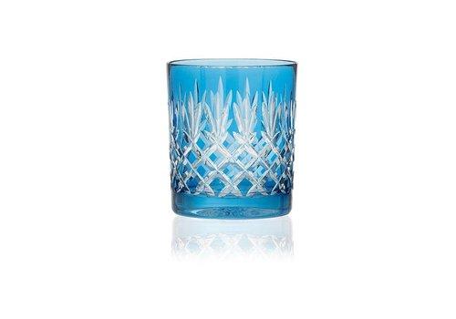 Gurasu Crystal  Pineapple Sky Blue Tumblers, set of 2