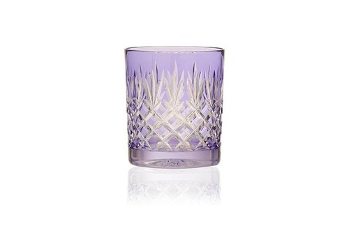 Gurasu Crystal  Pineapple Lavender Double Old Fashioned Tumbler