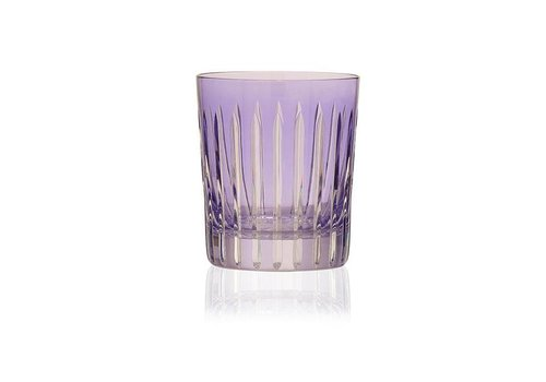 Gurasu Crystal  Lavender Shining Star Crystal Tumbler, set of 2