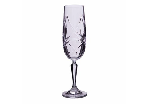 Katherine Crystal Champagne Flutes, set of 6