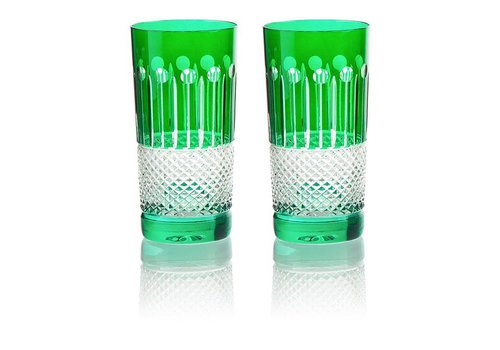 Emerald Crystal High Ball Glasses, set of 6