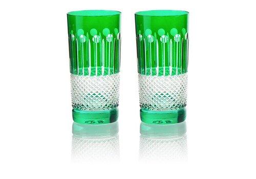 Emerald Crystal High Ball Glasses, set of 6