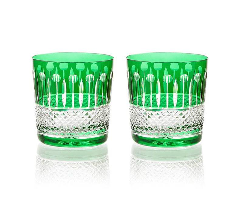 Birds of Paradise Emerald Green Tumblers, set of 2