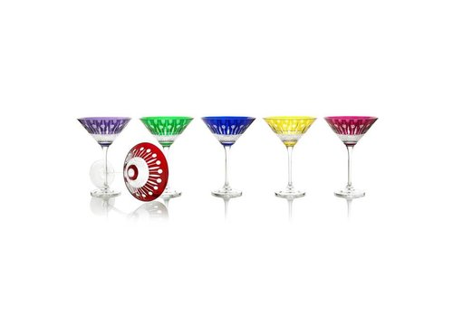 Gurasu Crystal  Birds of Paradise Crystal Cocktail Glasses, set of 6