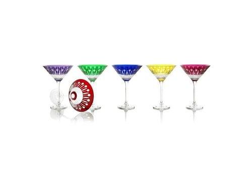 Gurasu Crystal  Birds of Paradise Crystal Cocktail Glasses, set of 6
