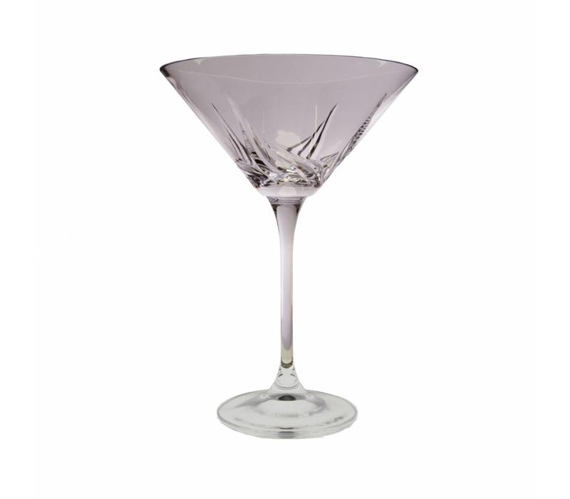 Aurora Martini Crystal Glasses, set of 6