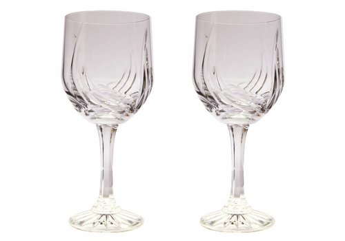 Aurora Crystal Red Wine Glasses, set of 6