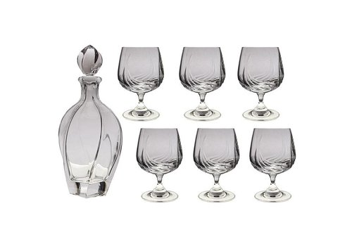 Aurora Crystal Brandy Set