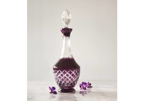 Aubergine Crystal Decanter