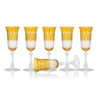 Amber Gold Champagne glasses, set of 6