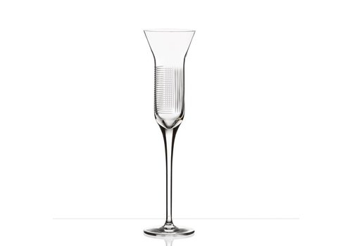 Lines crystal champagne flutes, set of 2