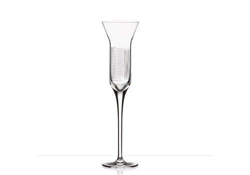 Lines crystal champagne flutes, set of 2