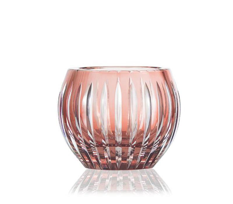 Shining Star Cranberry Crystal Tea light Votive / Vase