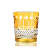 Amber Gold Crystal Whisky Tumbler, set of 2
