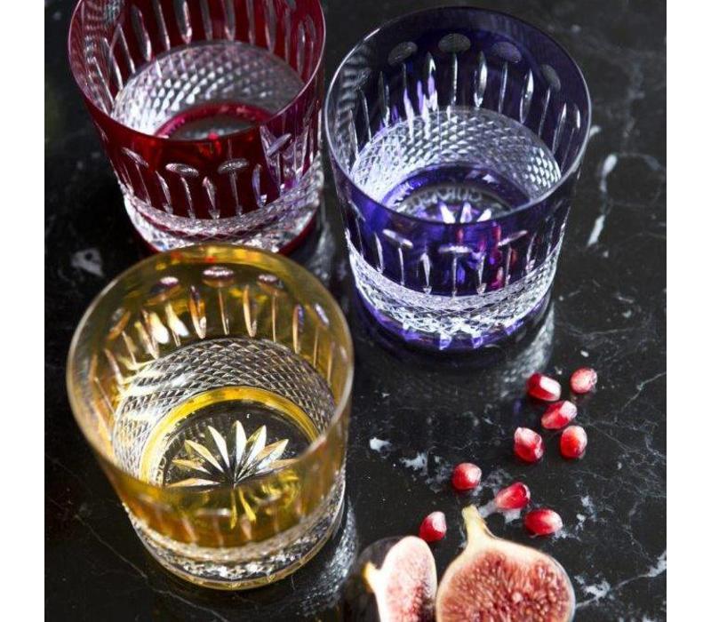 Amber Gold Crystal Whisky Tumbler, set of 2