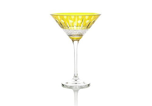 Gurasu Crystal  Martini Cocktail Crystal Glass, Citrine, single