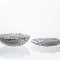 Bubbles Medium Crystal Plate, 21.5cm