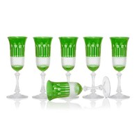 Emerald Champagne glasses, set of 6