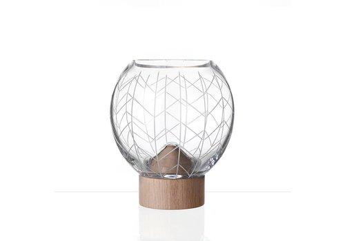 Bomma  Glass Mount crystal vase by Arik Levy