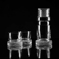 Bomma Module Two Crystal Whiskey Tumbler by Thomas Jenkins, set of 2
