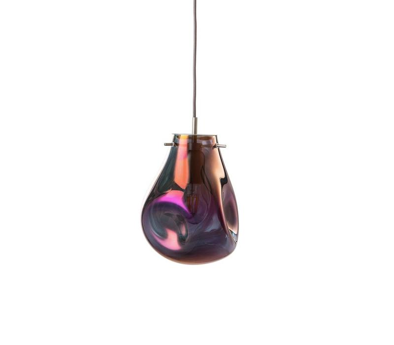 Soap Crystal Pendant, Purple