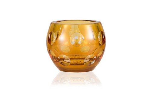 Dot Tealight Candleholder in Amber