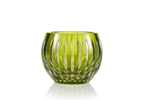 Gurasu Crystal  Shining Star Olive Green Crystal Tea Light Candle Holder / Vase