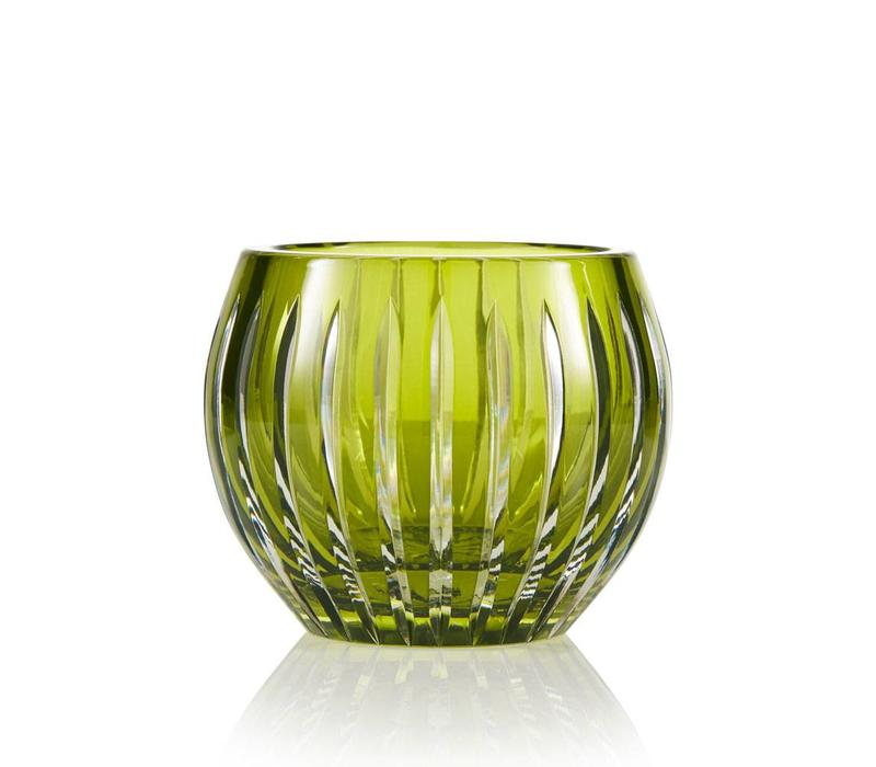Shining Star Olive Green Crystal Tea Light Candle Holder / Vase