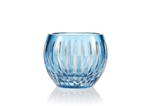 Gurasu Crystal  Shining Star Sky Blue Crystal Tea Light Candle Holder / Vase