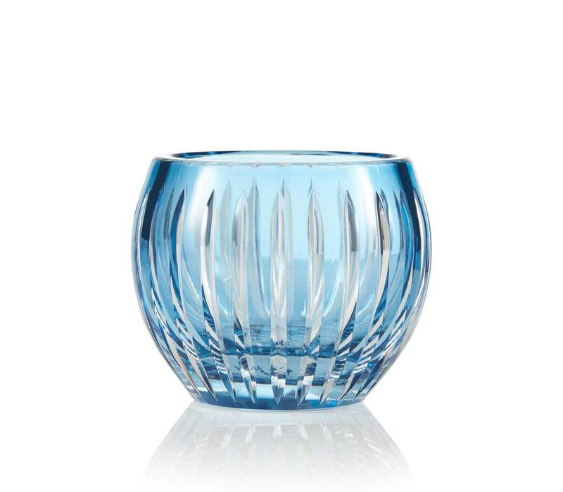 Shining Star Sky Blue Crystal Tea Light Candle Holder / Vase