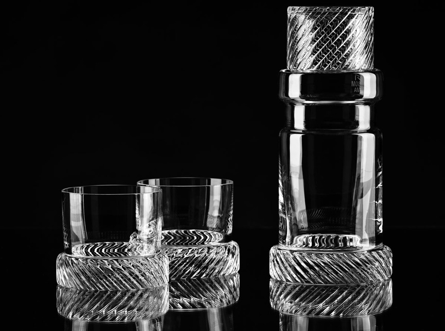 Module Two by Studio Koncern crystal glasses ad decanter