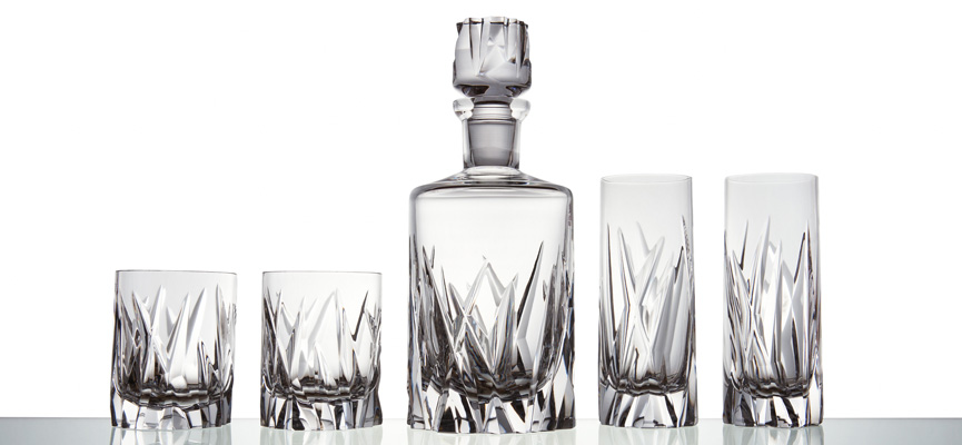 Bomma Icebreaker crystal tumblers and decanter