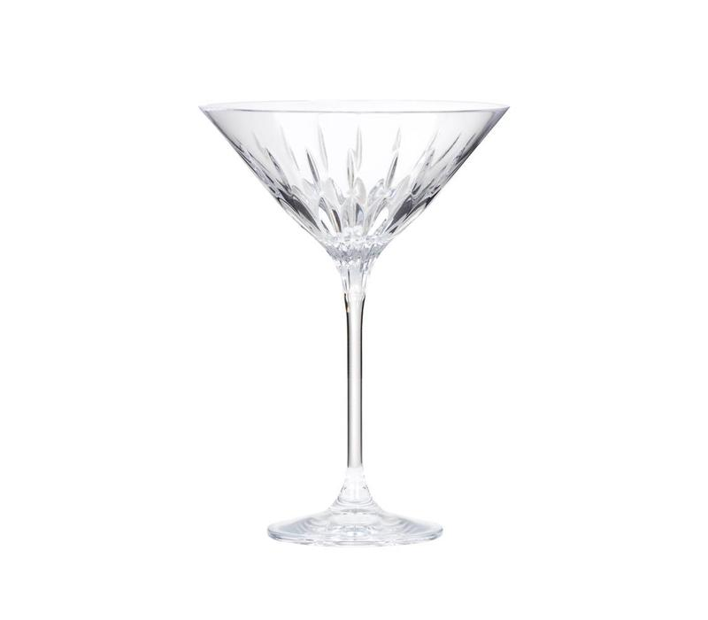 Diamante Martini Crystal Glasses, set of 2