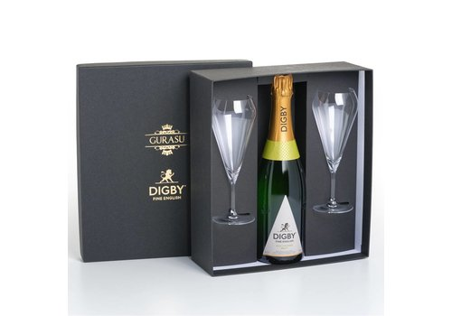 Gurasu Crystal  THE DIGBY ENGLISH SPARKLING WINE GLASS™ GIFT SET