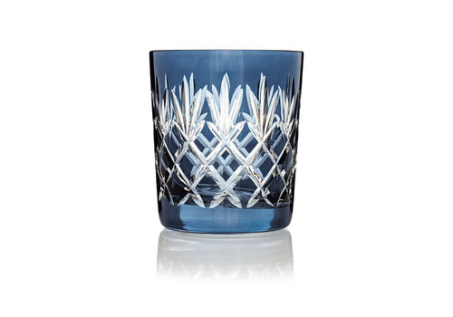 Gurasu Crystal  Pineapple Denim Blue Double Old Fashioned Tumbler