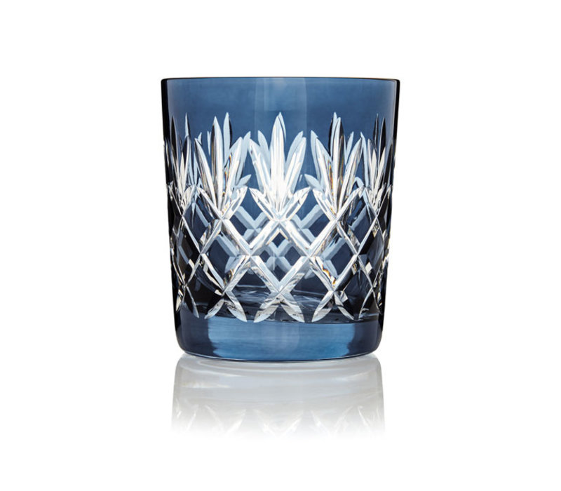 Pineapple Denim Blue Double Old Fashioned Tumblers