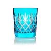 Gurasu Crystal  Pineapple Aqua Blue  Double Old Fashioned Tumbler