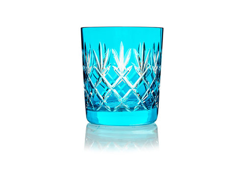 Gurasu Crystal  Pineapple Aqua Blue  Double Old Fashioned Tumbler