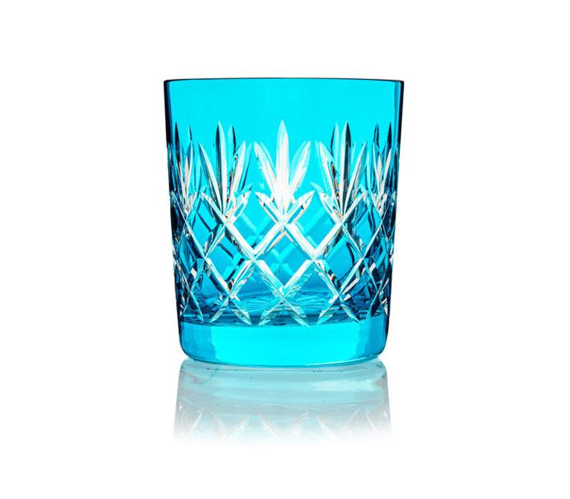 Pineapple Aqua Blue  Double Old Fashioned Tumbler