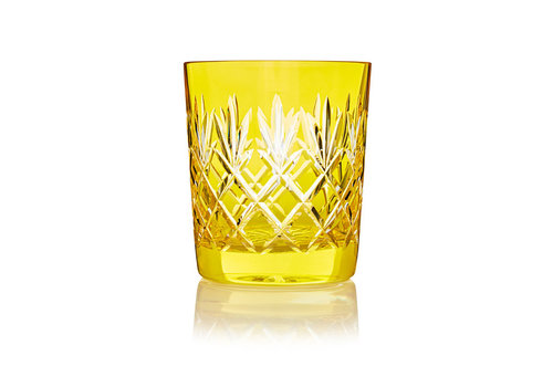 Gurasu Crystal  Pineapple Lemon  Double Old Fashioned Tumbler