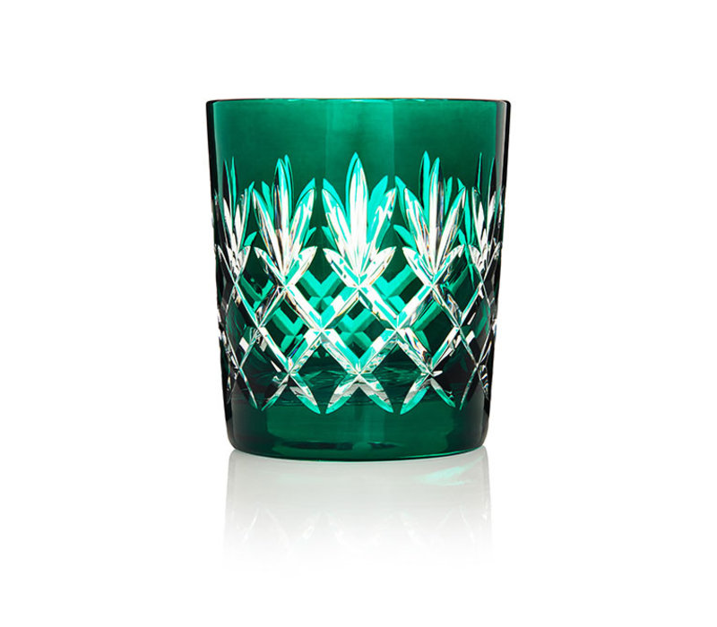 Pineapple Deep Green Double Old Fashioned Tumbler